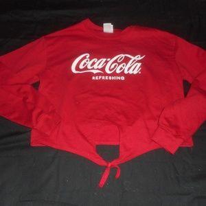 Coca Cola Coke Red Crop Shirt